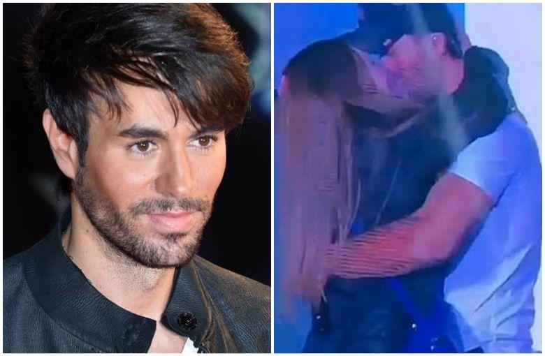 Enrique Iglesias besa apasionadamente a una de sus fanáticas