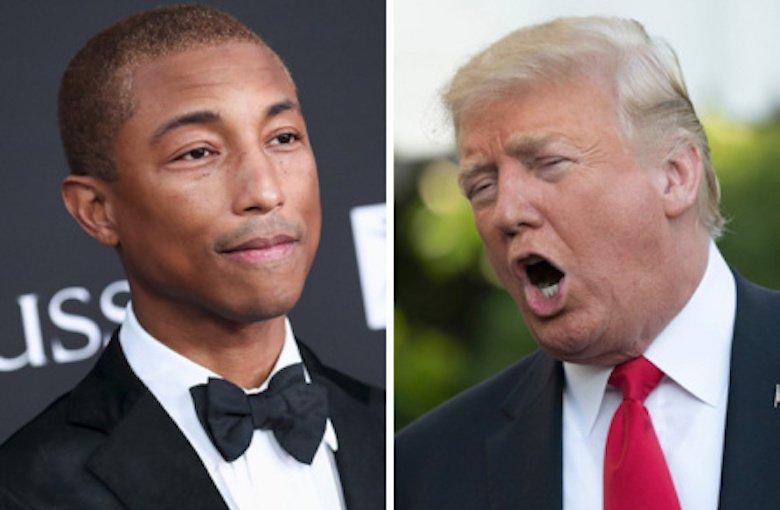 Pharrell Williams amenaza con demandar a Trump por violar sus derechos de autor