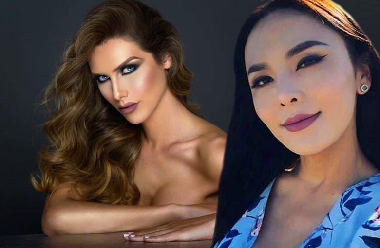 Miss España y Miss Mongolia