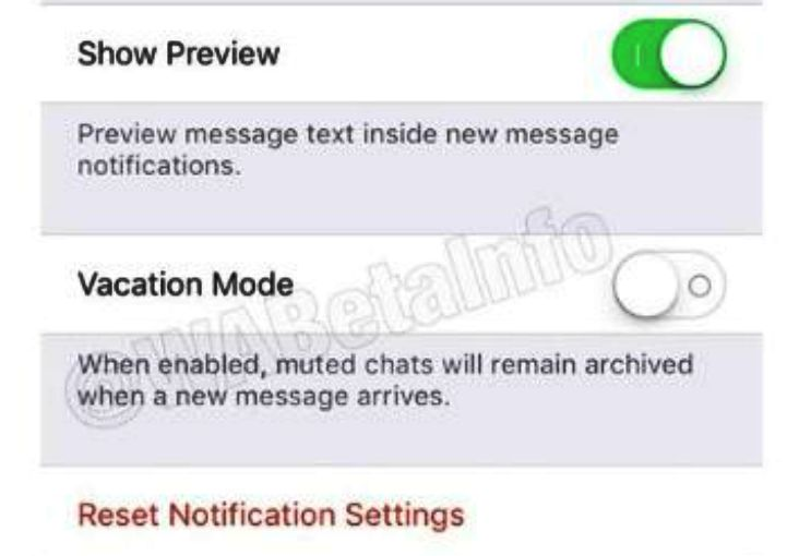 Activar el modo Vacaciones en Whatsapp