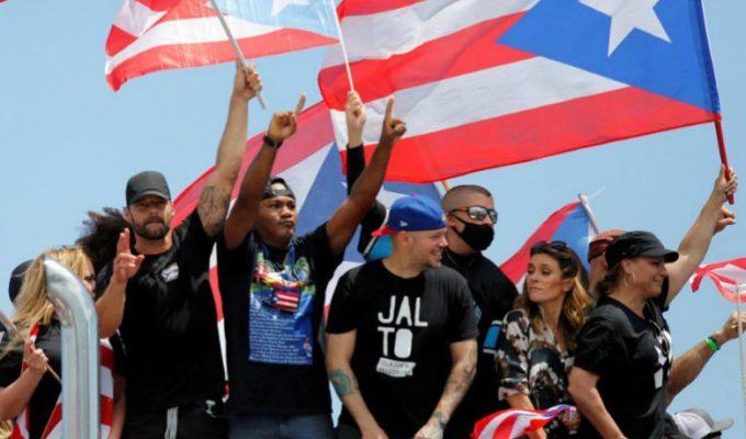 Artistas celebran renuncia de Ricardo Rosselló en Puerto Rico