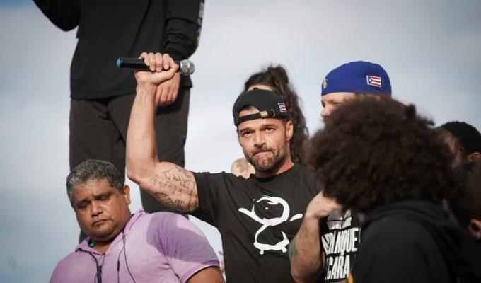 Ricky Martin, Bad Bunny y más artistas protestan por Puerto Rico