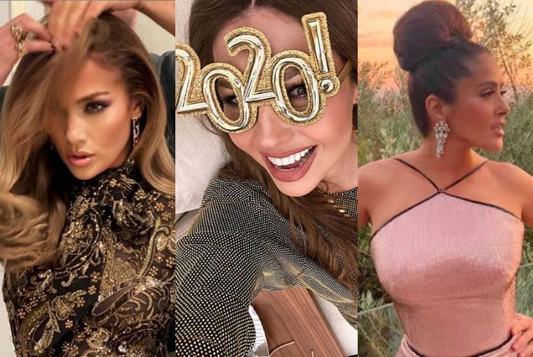 Jennifer Lopez, Salma Hayek, Thalia: así recibieron el Año Nuevo los famosos