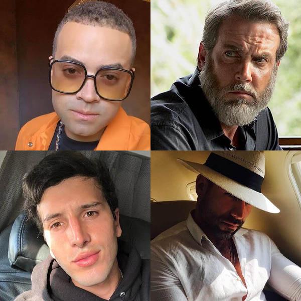famosos con barba sin barba