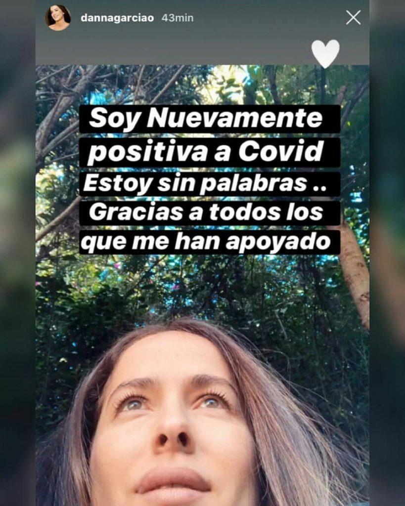 ¡Qué salada! Danna García lucha contra el coronavirus por tercera vez
