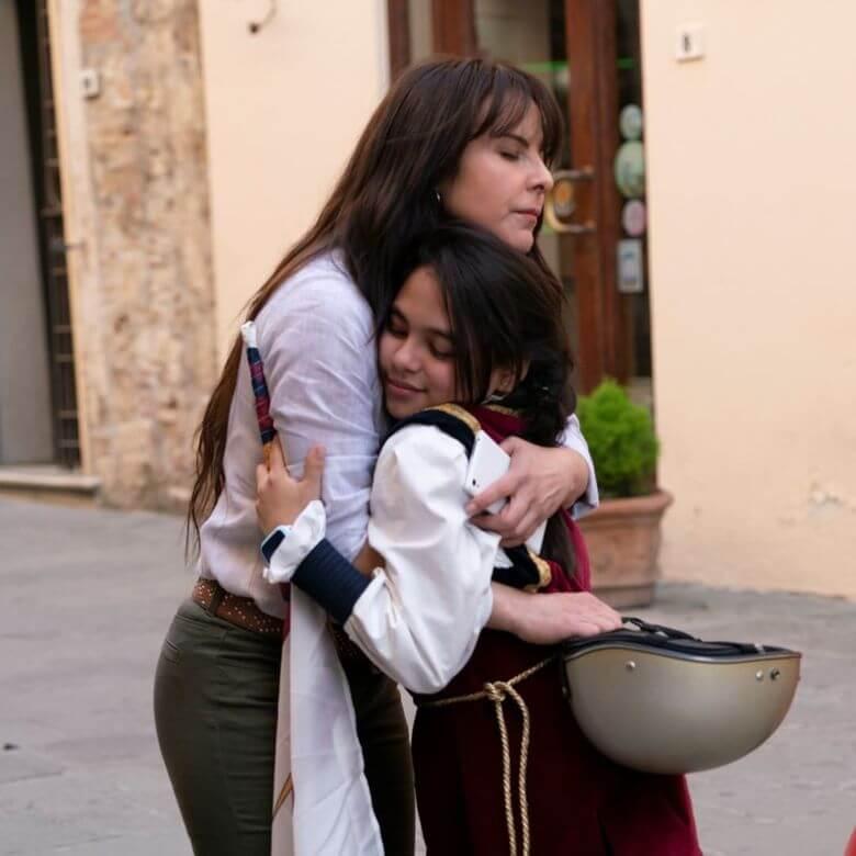 El último abrazo que le diera Teresa a su hija