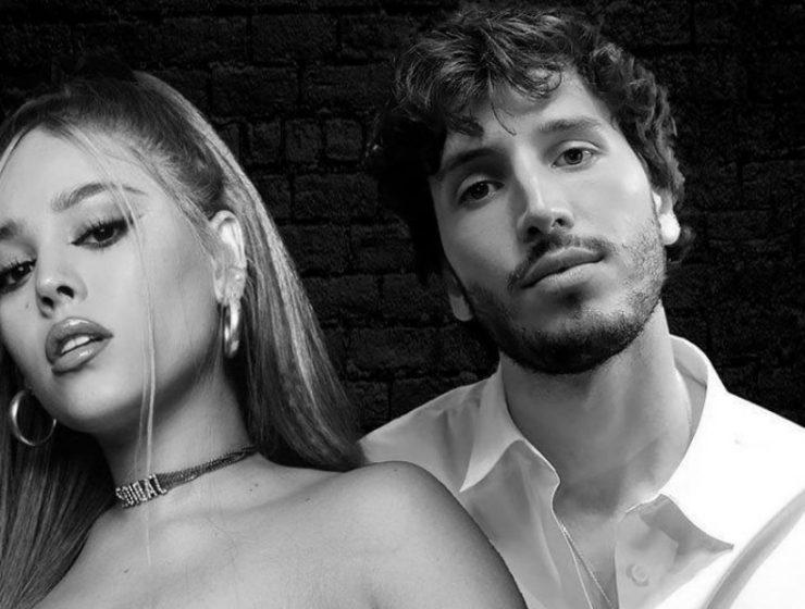 Sebastián Yatra y Danna Paola simularon darse un beso en Tiktok