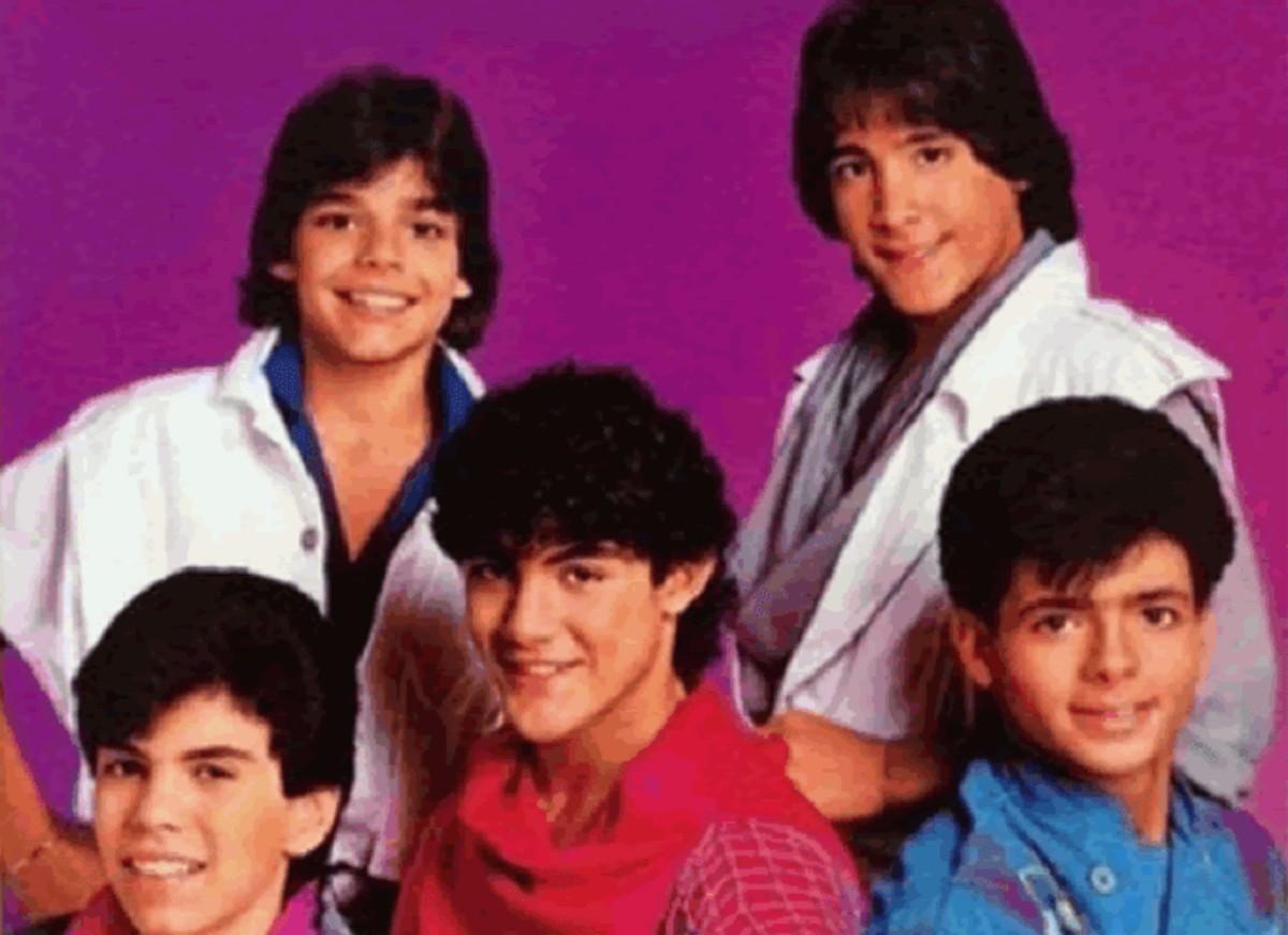 Roy Roselló y sus compañeros de Menudo