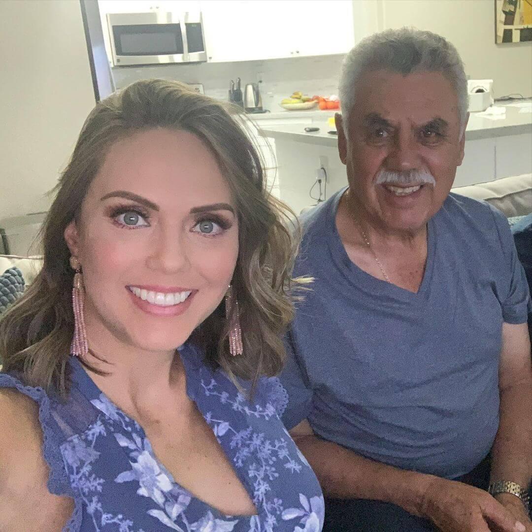 Jessica Carrillo llora la muerte de su padre