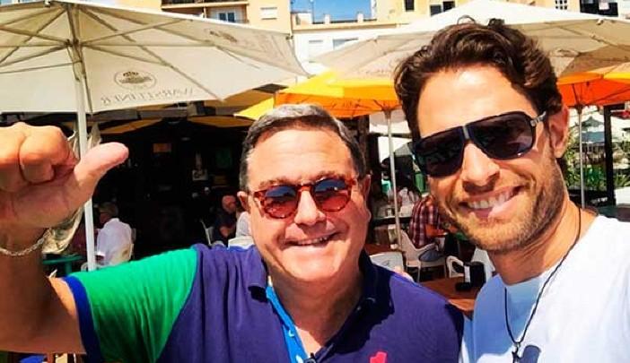 Sebastián Rulli y su padre