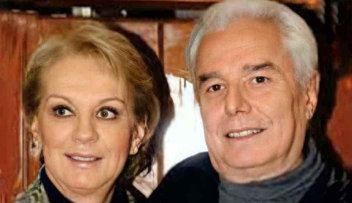 Enrique Guzmán y su esposa