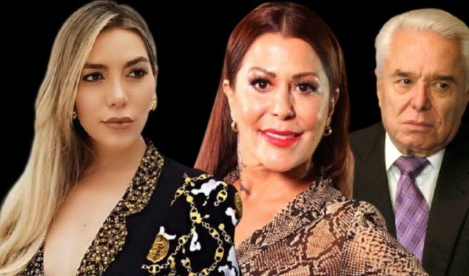 Frida Sofía Alejandra Guzmán y Enrique Guzmán