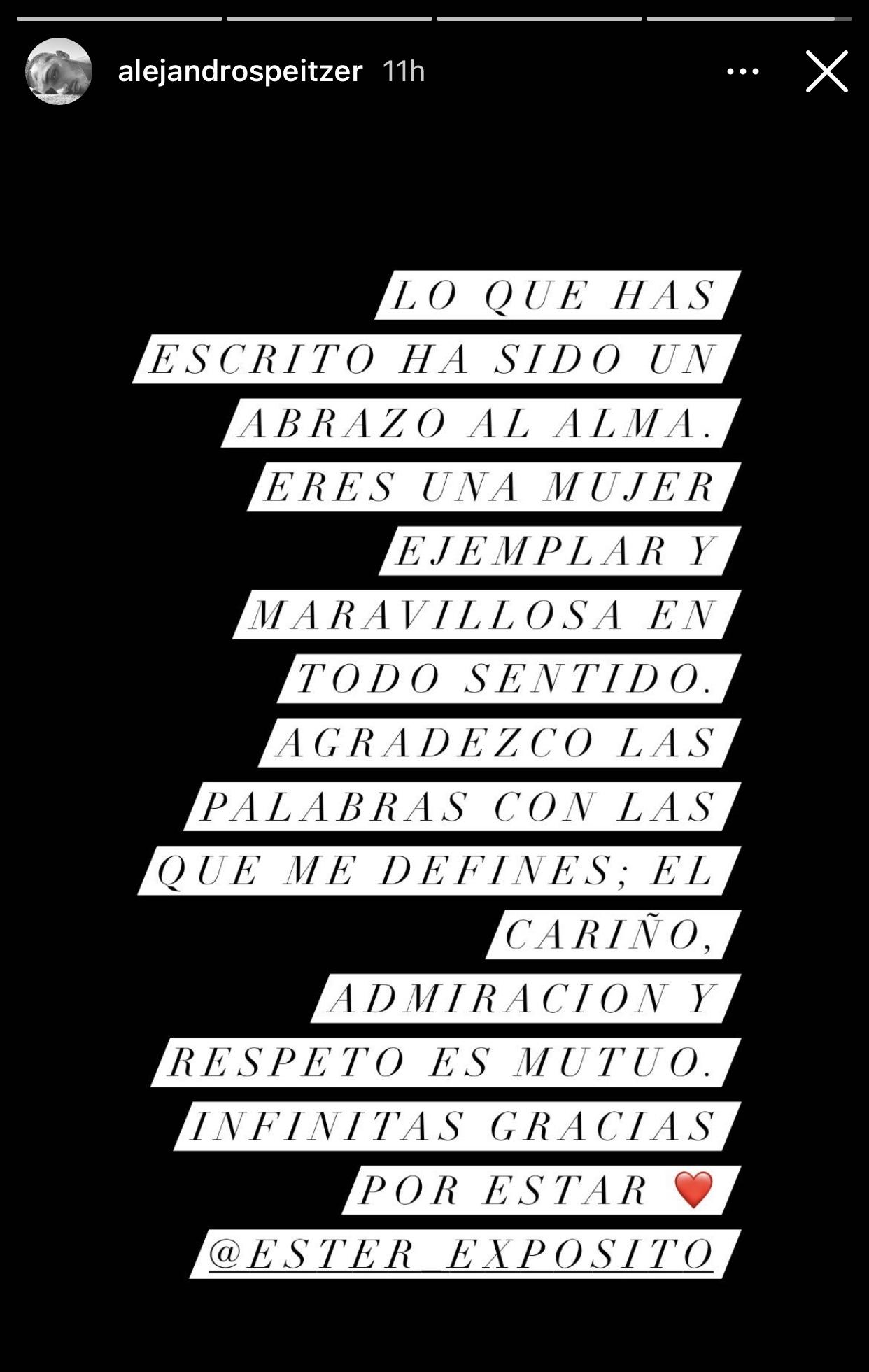 """Ester Expósito defiende como fiera a Alejandro Speitzer de quienes le dicen """"mantenido"""""""