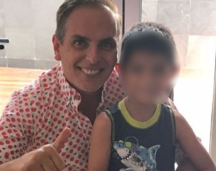 Xavier Ortiz y su hijo